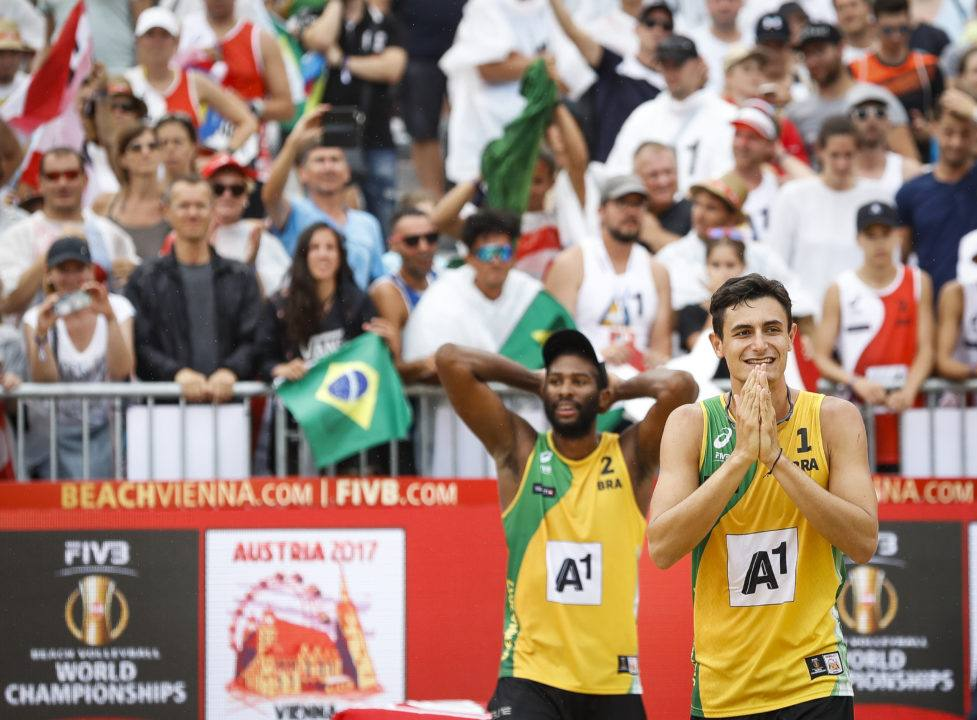 Evandro/Andre Beat Austrians, Massive Home Crowd, for Beach Gold