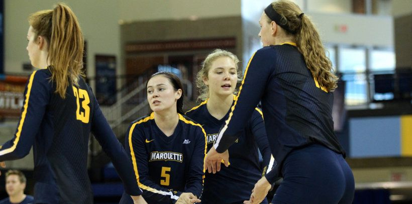 Allie Barber's 22 Kills Lead Marquette to Five-Set Upset of #20 Hawaii