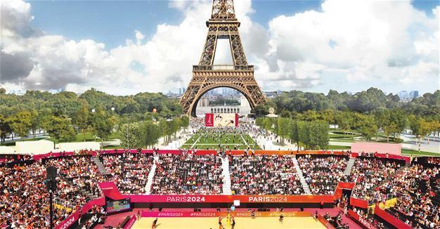 Stunning Beach Volleyball Venue for Paris 2024 Olympics