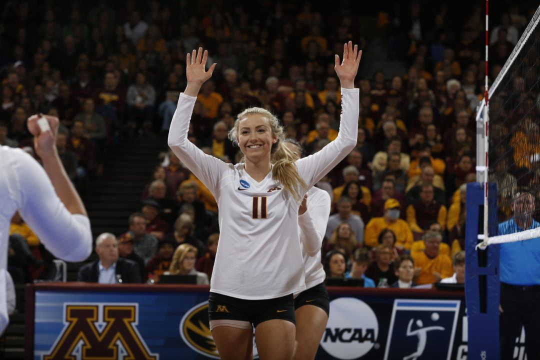Samantha Seliger-Swenson Joins 1,000-Career Digs Club