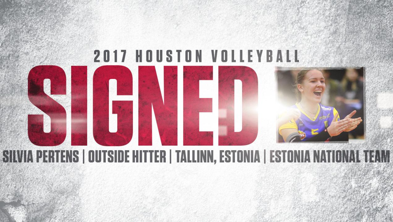 Houston Adds Estonia National Team Member Silvia Pertens for 2017