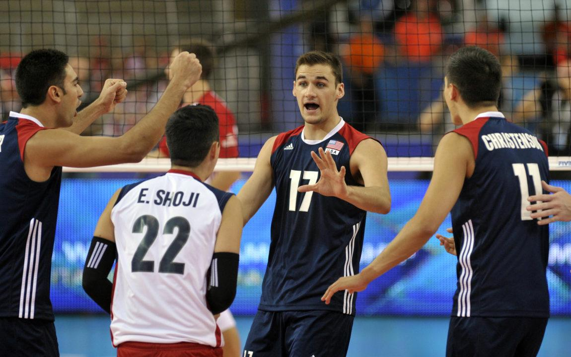 TJ DeFalco Starts for Americans At USA Volleyball Cup
