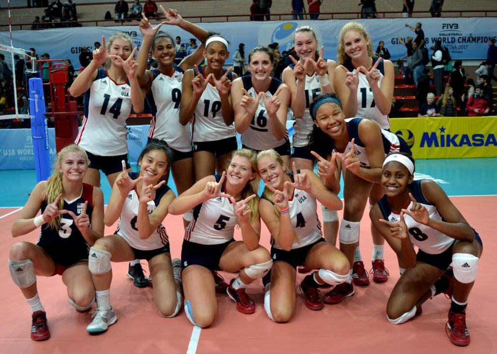 Team USA Beats Rivals Brazil 3-2 in Day 4 of Girls' U18 Worlds
