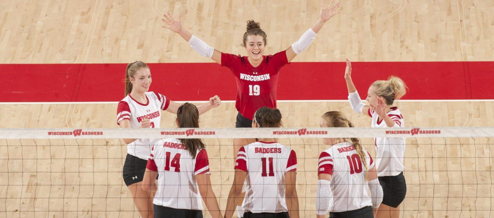 Wisconsin Makes Comeback Over Marquette After Dropping First Set