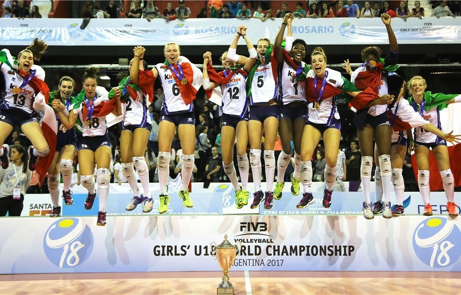 Italy repeats as FIVB Girls' U18 World Champions. USA finishes 8th.