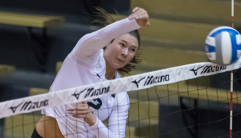 18 Kills From Autumn Bailey Leads #10 Michigan St. to Road Sweep