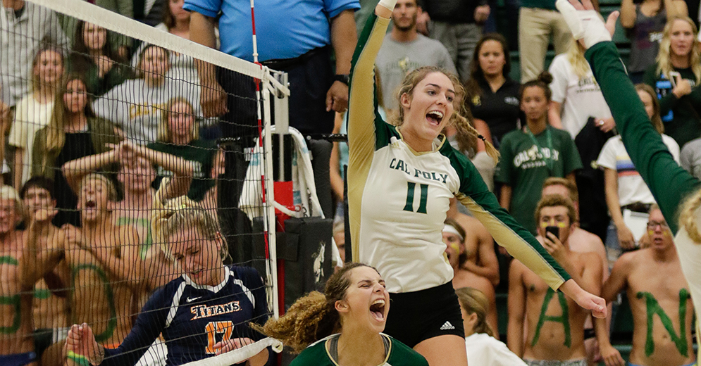 Torrey Van Winden's 20 Kills Leads Cal Poly to First Round Sweep