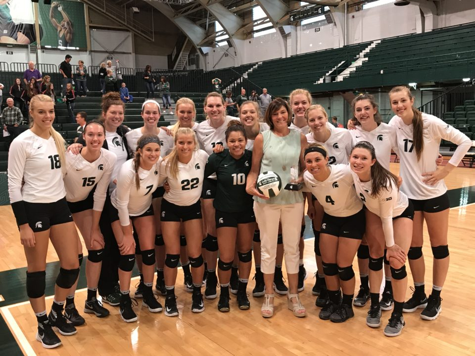 Michigan State's Cathy George Picks Up 600th Career Coaching Win