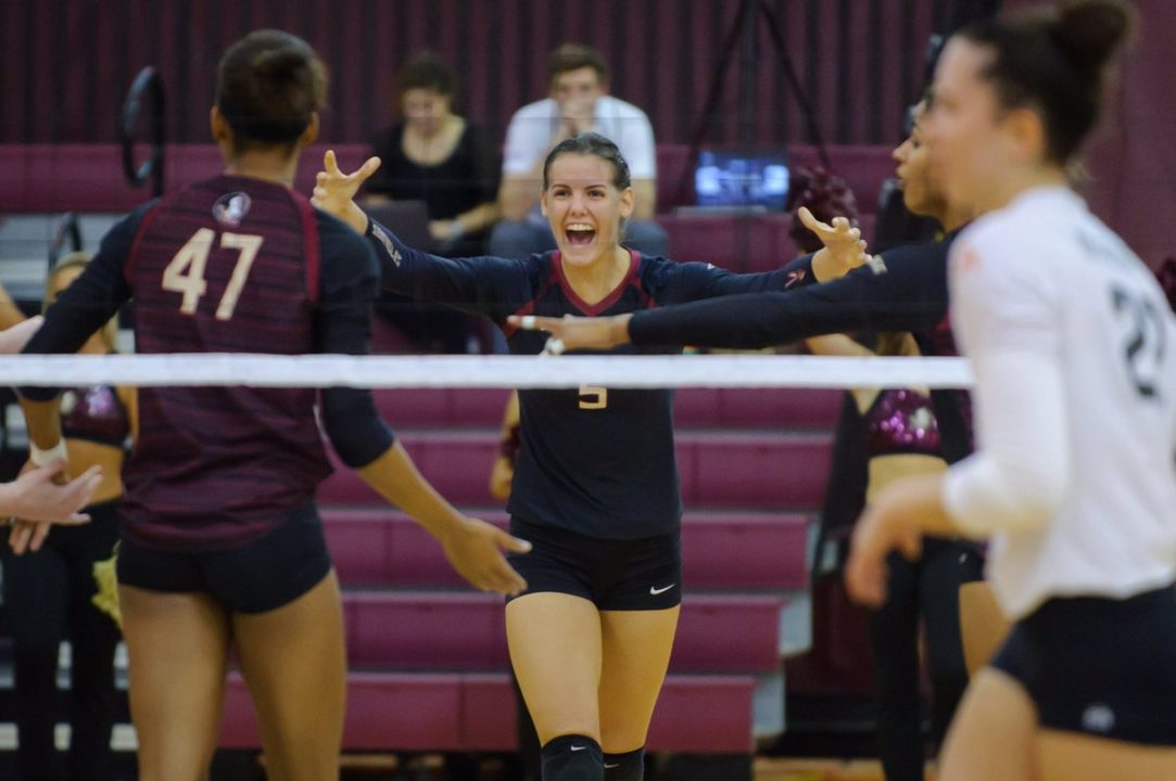 #20 Florida State Steals Away Five-Setter from Auburn