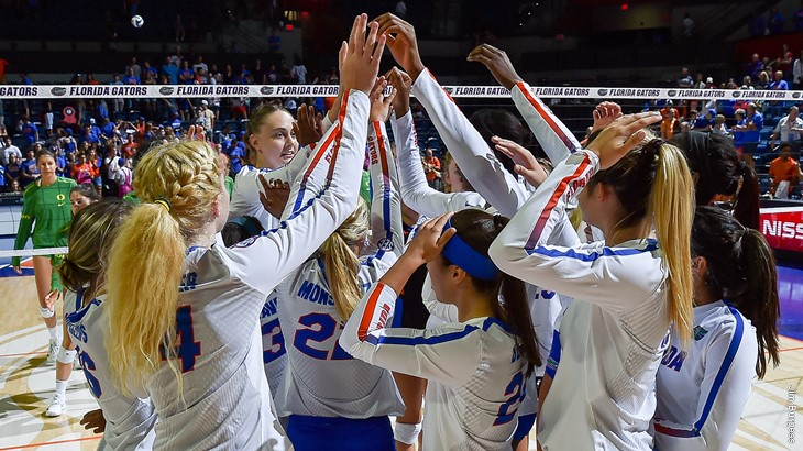 Blocks Lift #1 Florida to Four-Set Win over Lipscomb