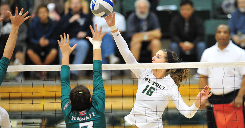 Cal Poly Ends North Dakota's 9 Match Win Streak In Straight Sets