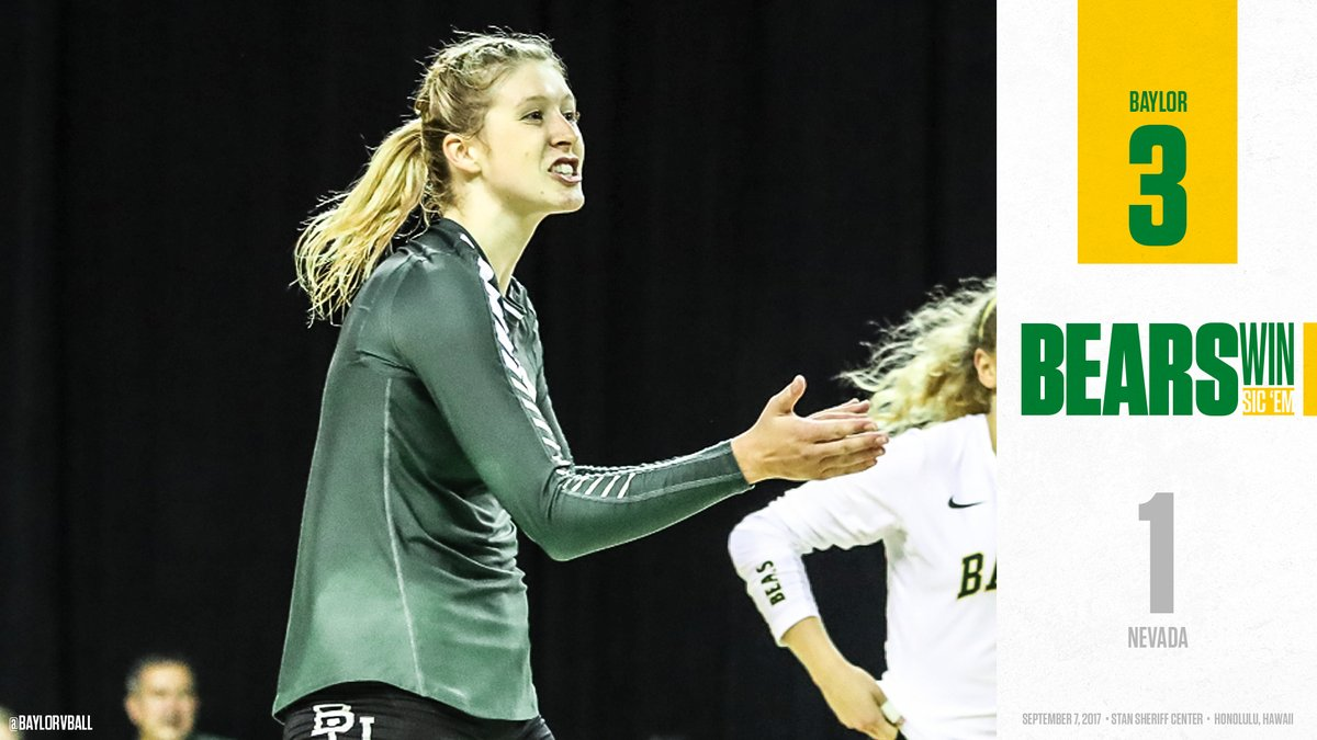 Katie Staiger's 19 Kills Guide (RV) Baylor to 3-1 Win Over Nevada