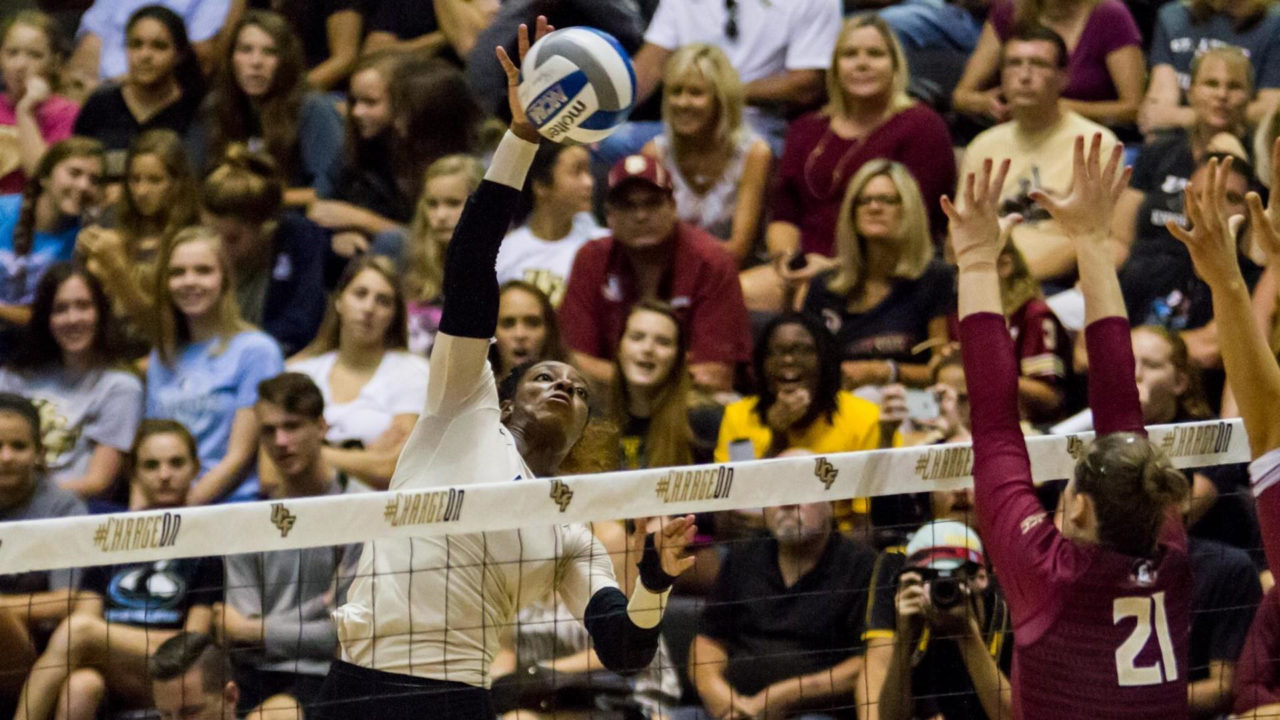UCF's Kia Bright Joins 1000-Kill/1000-Dig Club in Loss to Cincinnati