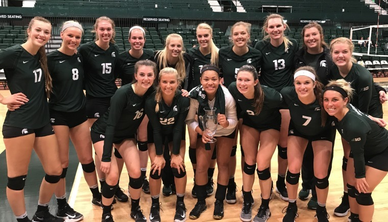 Soph Setter Midgette Leads #19 Spartans to Sweep of Central Michigan
