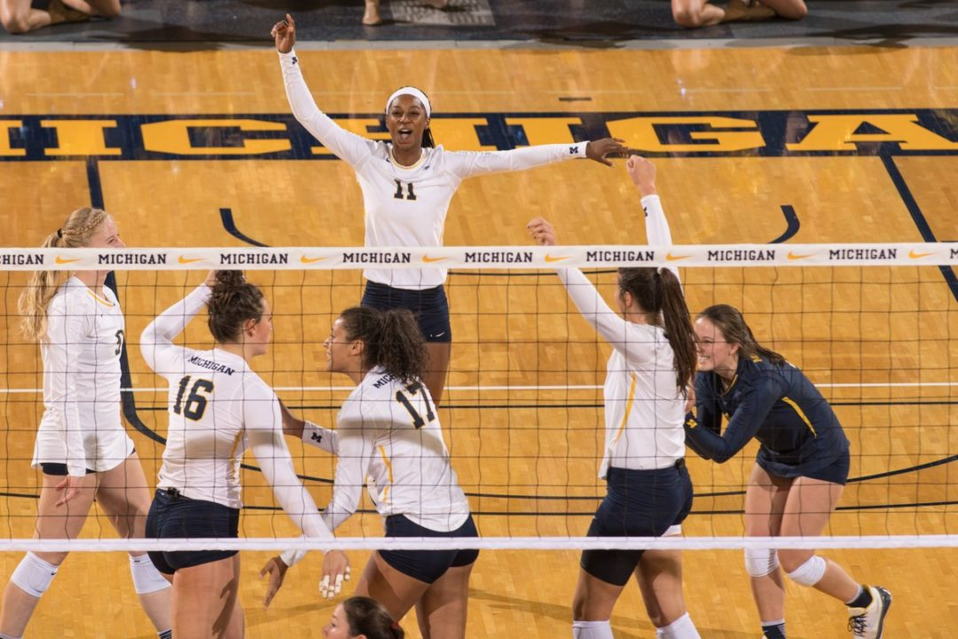 12 Blocks, 10 Aces Key Michigan to Win Over Maryland