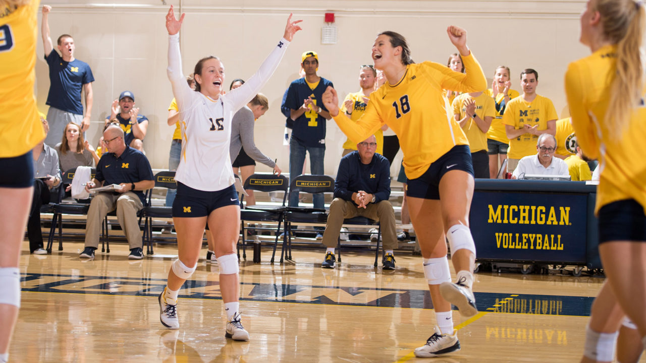 Michigan (RV) Shatters Attendance Record in Four-Set Win Over Buckeyes