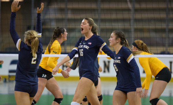 Notre Dame Sweeps #19 Michigan State to Open Shamrock Invitational