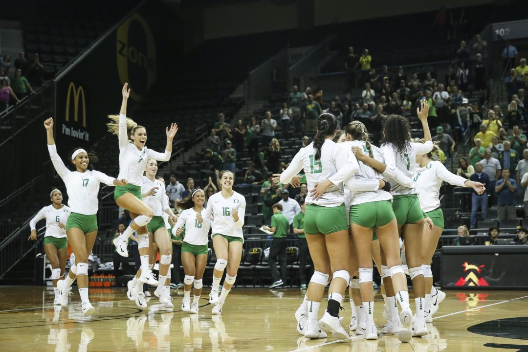 In a Top-20 Battle, Oregon Comes Out on Top in Four Sets