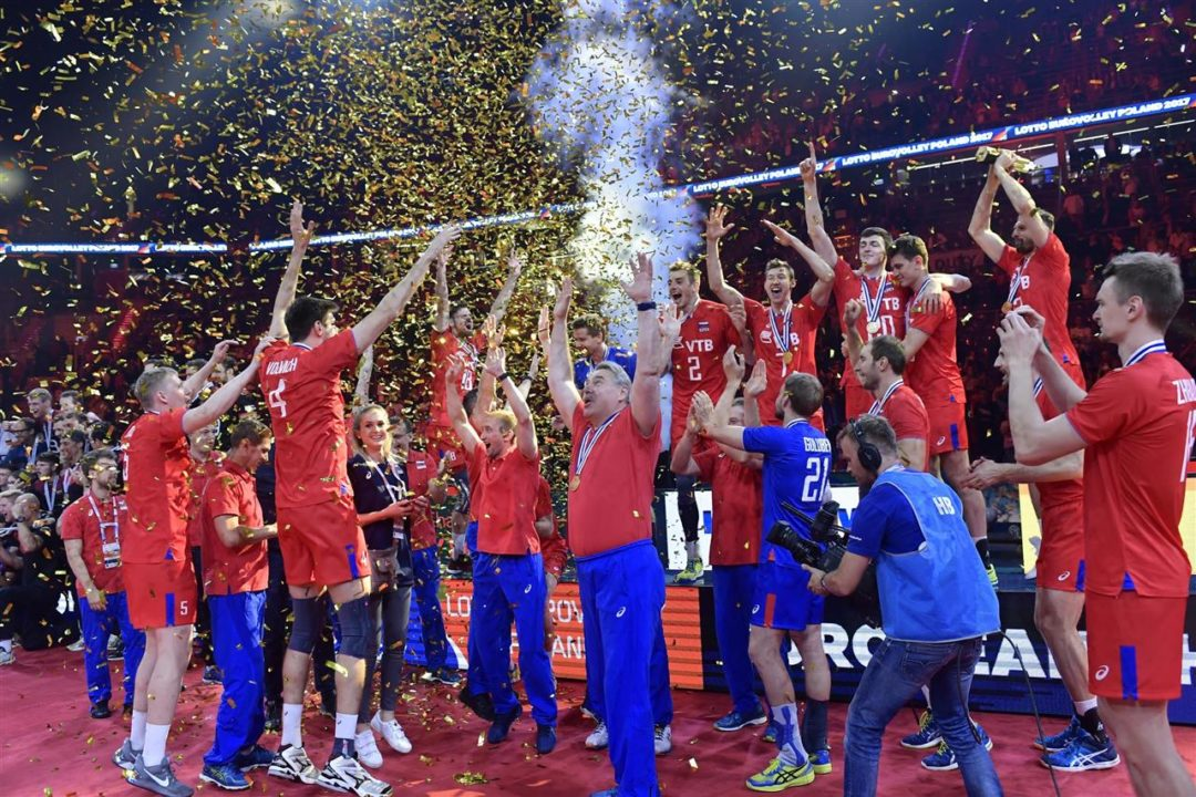 Russian Men Edge Germany in Five Sets for Record 14th European Title