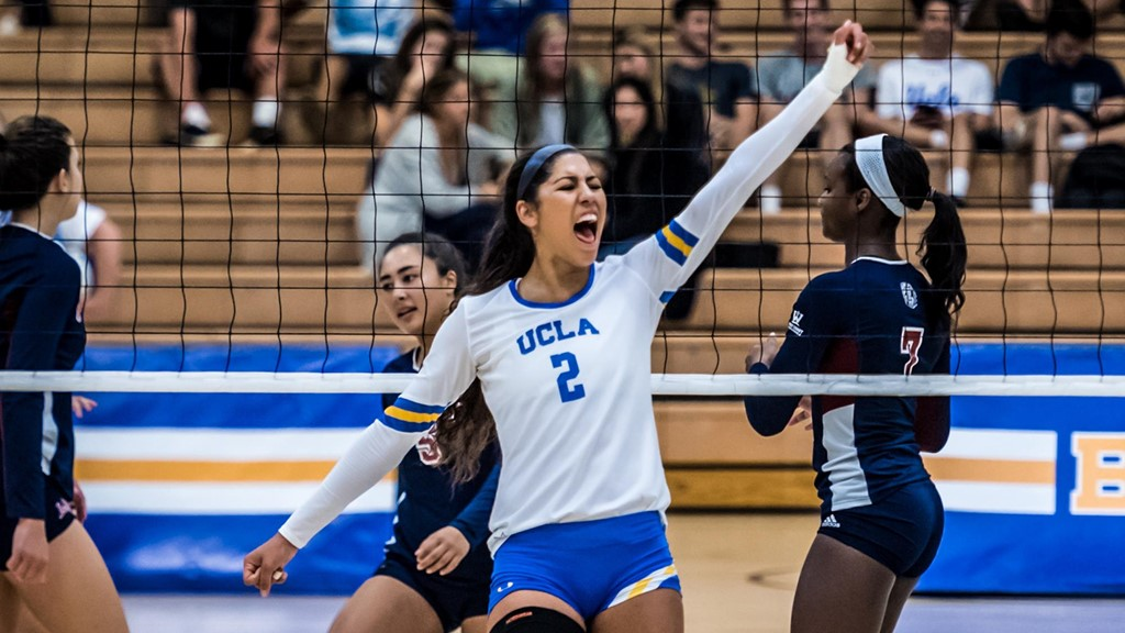 No. 15 UCLA Holds Home Court, Edges No. 8 Oregon in Four Sets