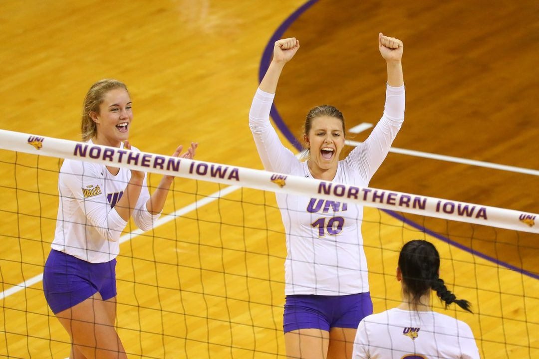 UNI Stays Perfect in MVC with 4-Set Win over Illinois State
