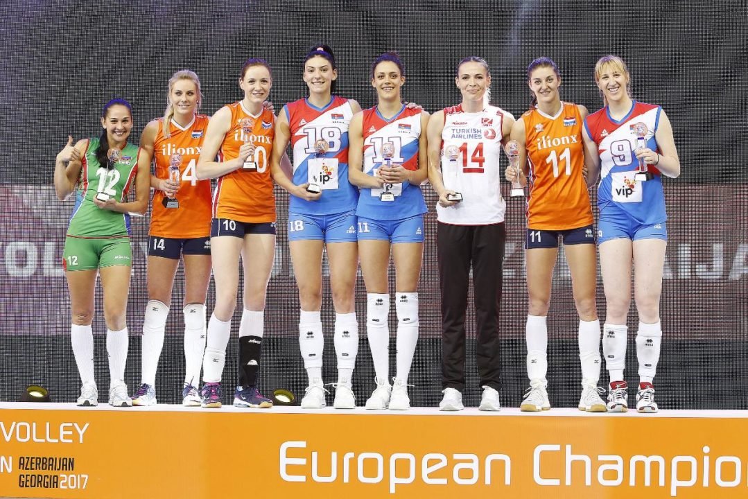 CEV Announces EuroVolley's MVP and Dream Team
