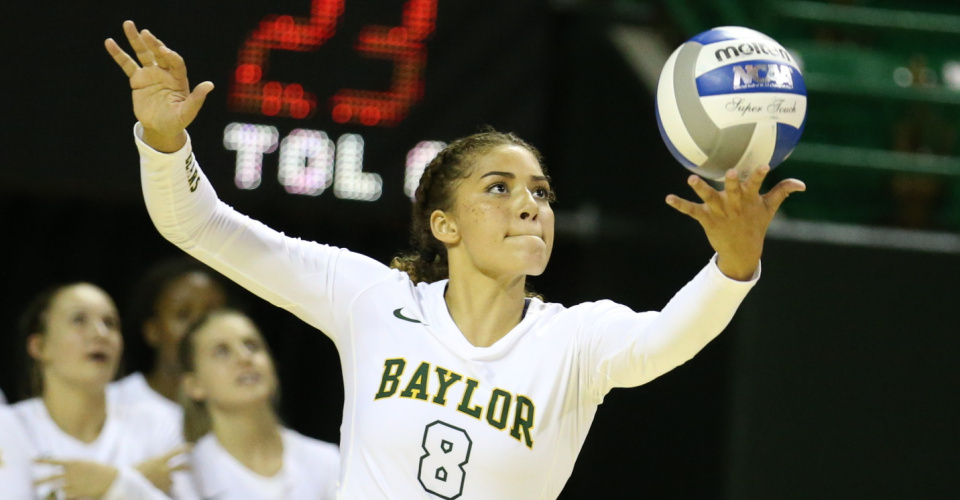 9 Aces Propel #23 Baylor to Sweep of West Virginia