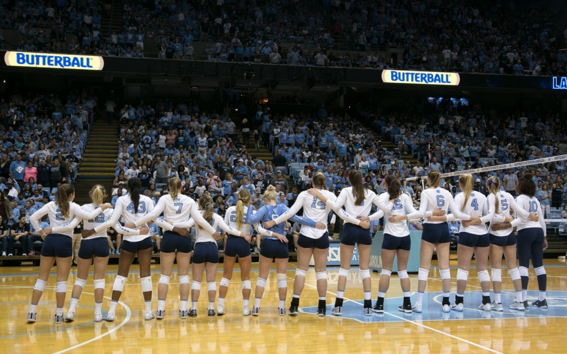 UNC Volleyball Draws 19,246 Fans…For a Regular Season Game