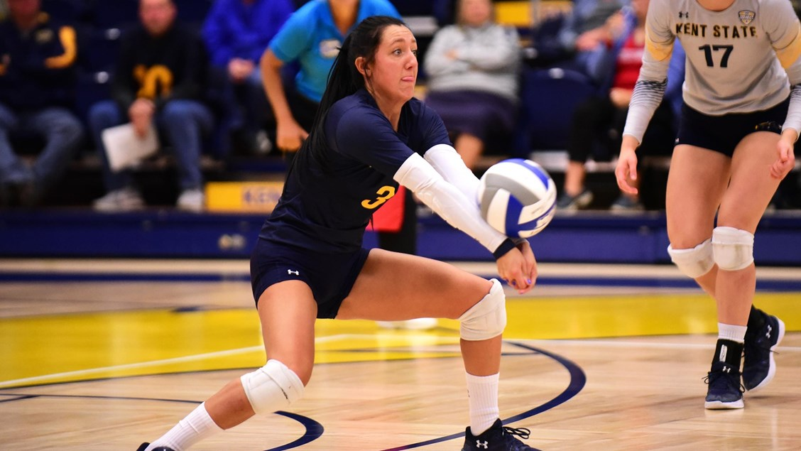 Kent State's Challen Geraghty Breaks School's Career Record for Digs