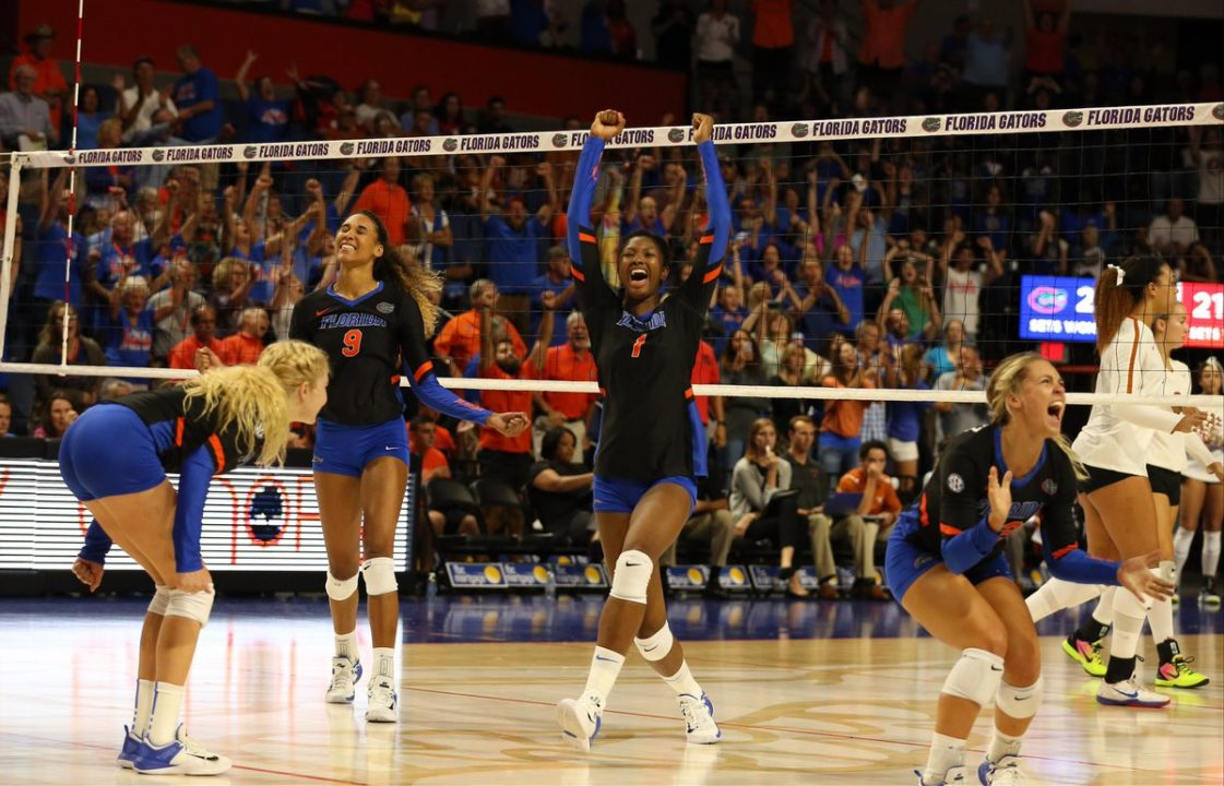 No. 1 Florida Puts up 12 Blocks, 10 Aces in 3-1 Win over Texas A&M
