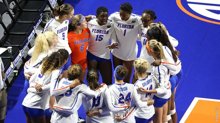 Florida Records 18 Blocks In Four-Set Win Over Arkansas