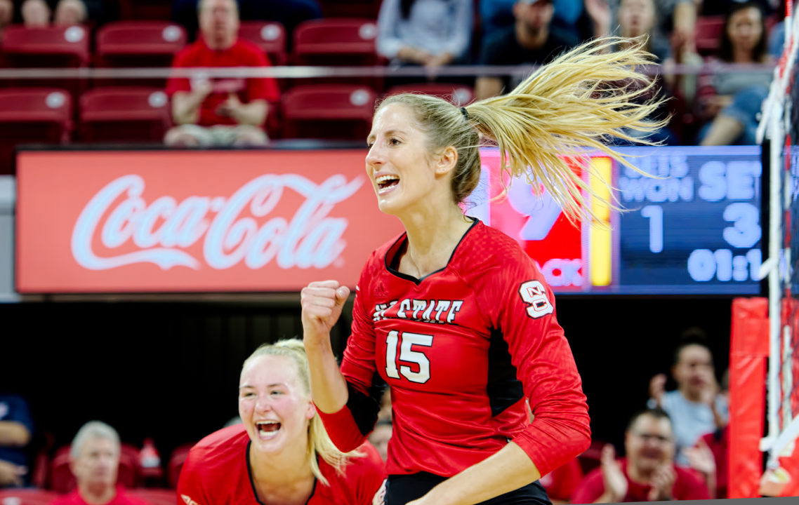 Kaitlyn Kearney's 13 Kills (.765) Leads NC State to Home Sweep Over BC