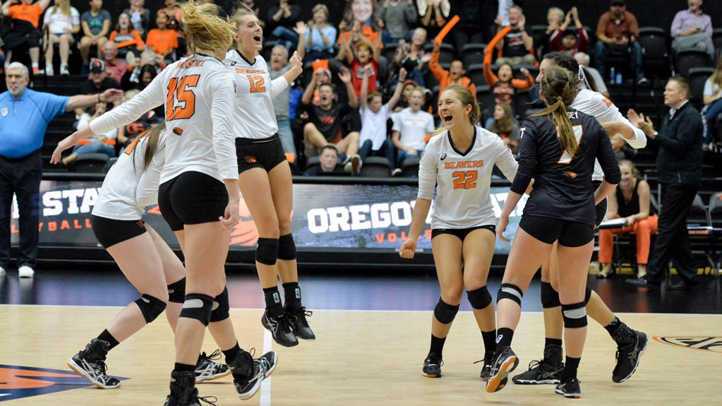 (RV) Oregon State Hits .423 in Straight-Set Victory Over Cal