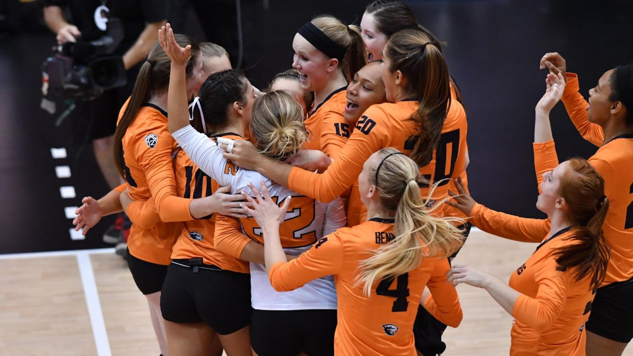 Marshall Logs 25 Kills as Oregon State Stuns #13 Washington in 5 Sets
