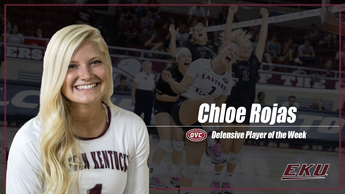 Eastern Kentucky's Chloe Rojas Named OVC Defensive Player Of The Week