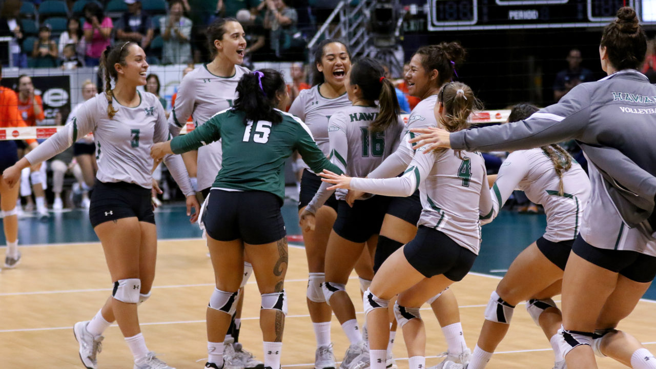 Hawaii Rallies From Two Sets Down to Beat UC Irvine