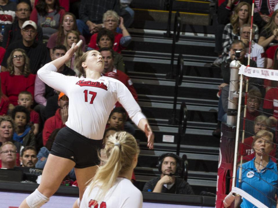 Efficient Offense, Serve Receipt Leads Nebraska to 3-0 Sweep