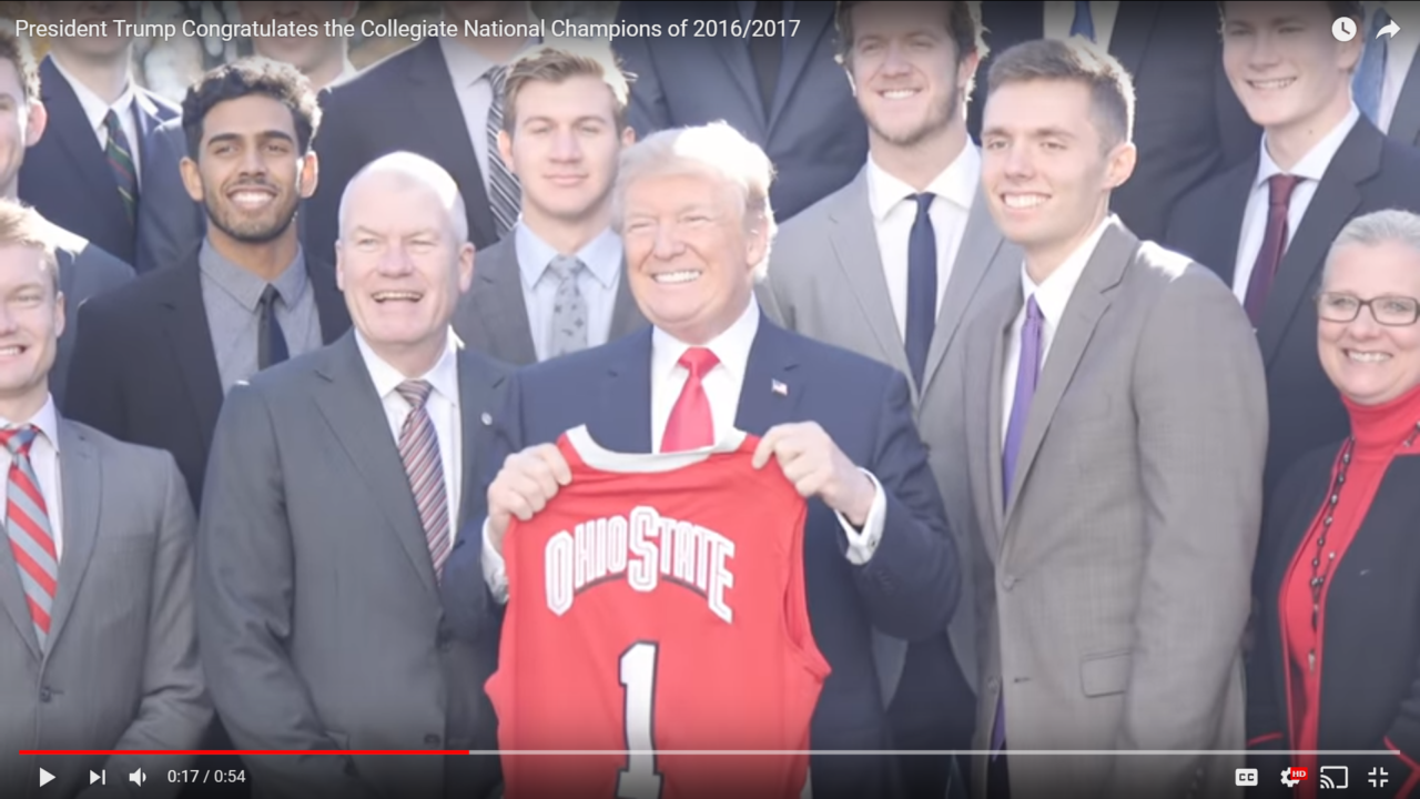 Ohio State Men's Volleyball Team Meets Donald Trump at ...