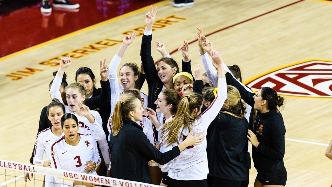 #12 USC Rallies in 5-Setter to Give Mick Haley 1300th Career Win