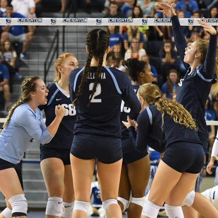 Villanova Upsets #23 Utah in Villanova Volleyball Invitational