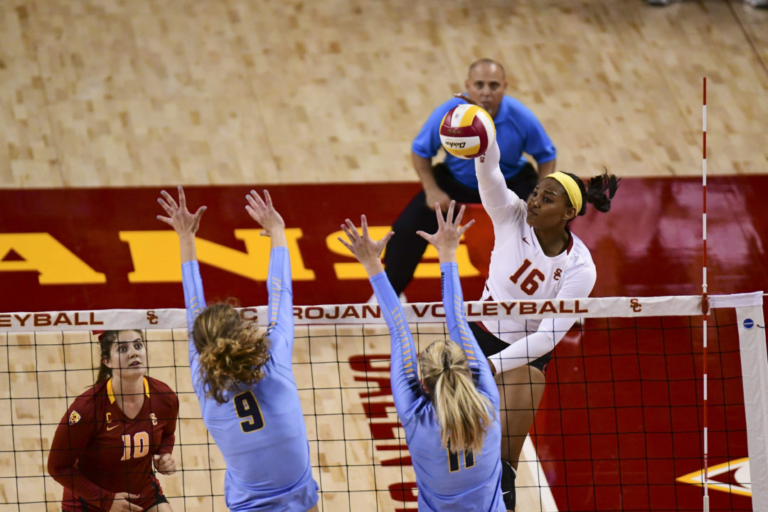 Khalia Lanier Leads #10 USC Past #17 Washington in Four Sets