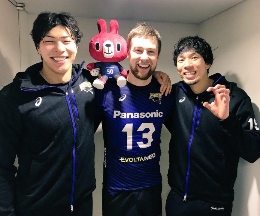 Japan Men: Panasonic Four straight wins to maintain lead