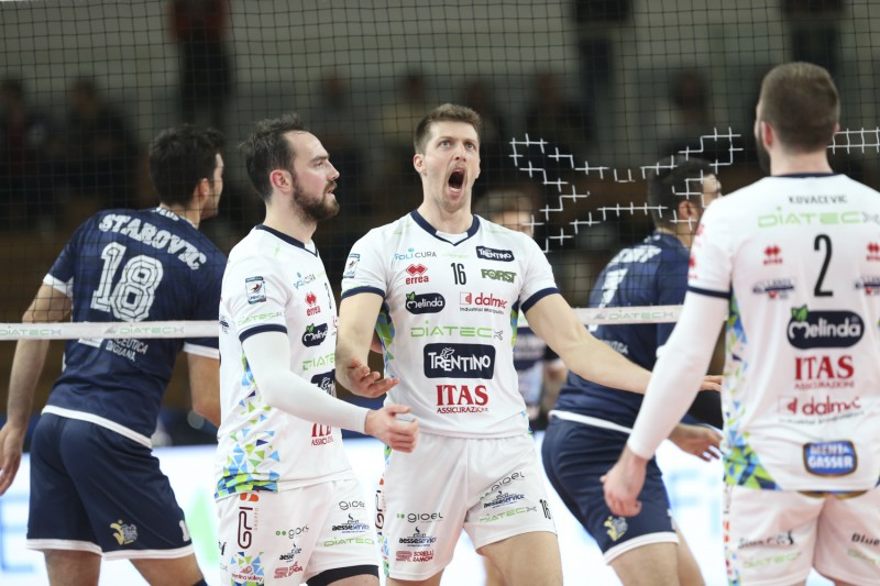 Italian Men: Diatec Trentino Wins First Match In Weeks Over Top Volley