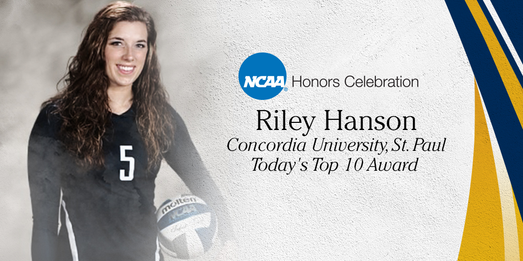 Concordia-St. Paul's Hanson Named NCAA Today's Top 10 Recipient