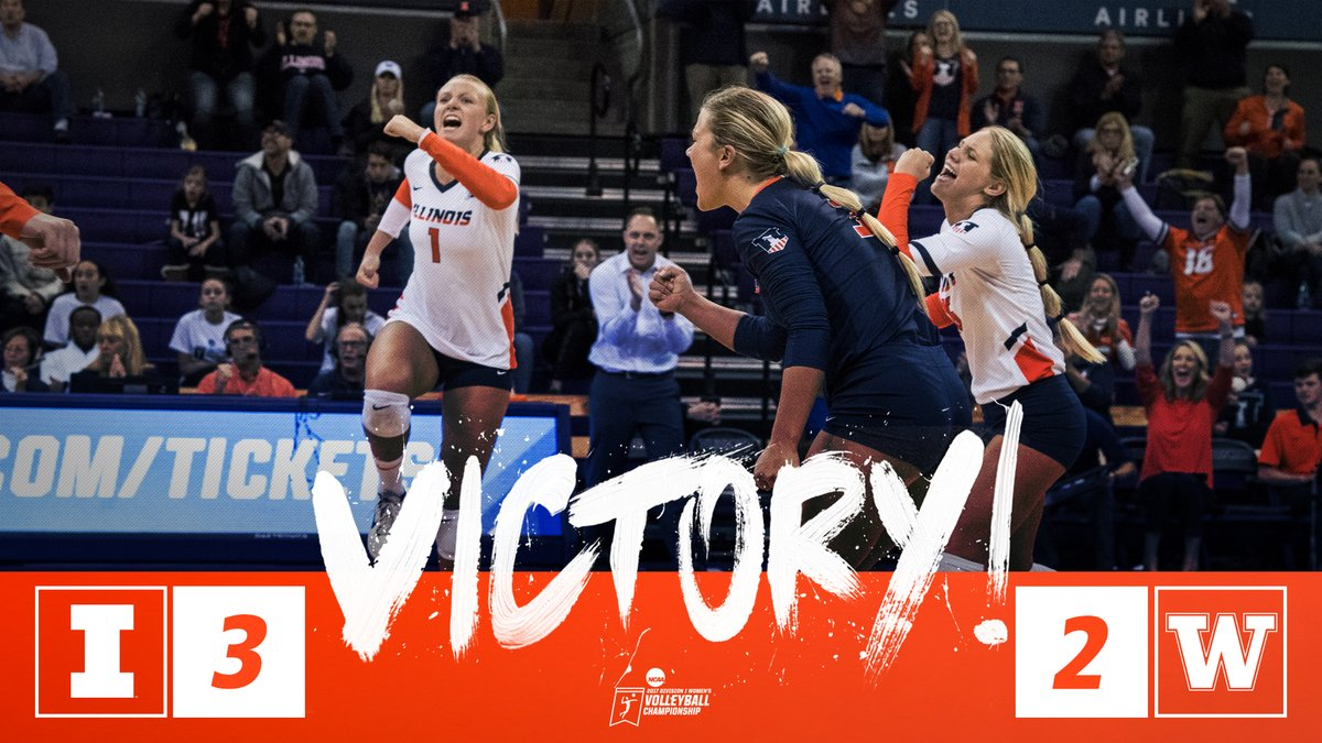 Illinois Stuns #8 Washington in Five to Reach Second Sweet 16 in 3 Years