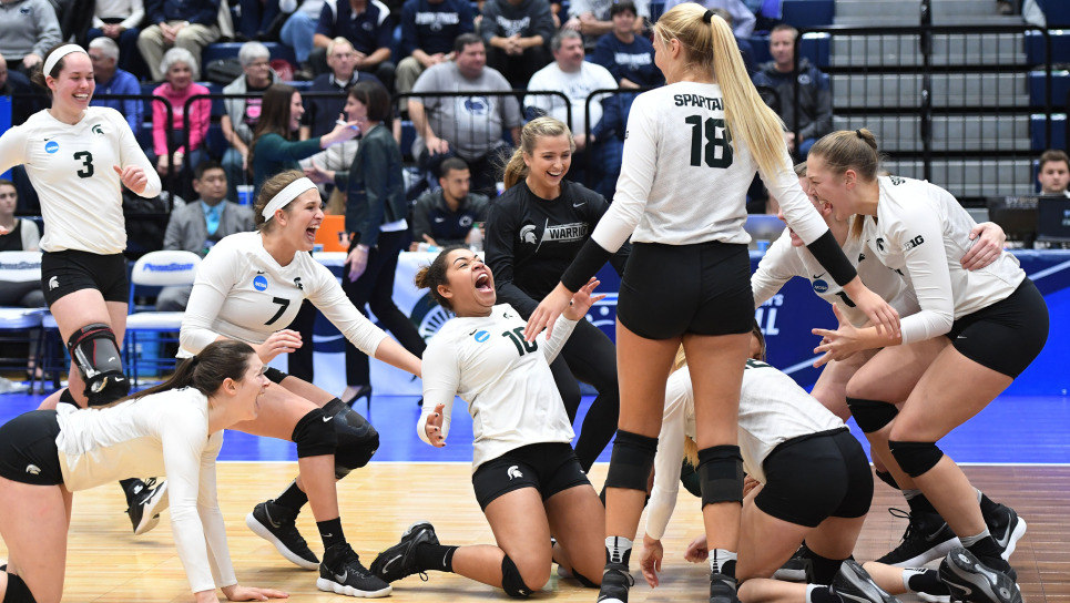 Michigan State Advances to First Volleyball Elite 8 Since 1996