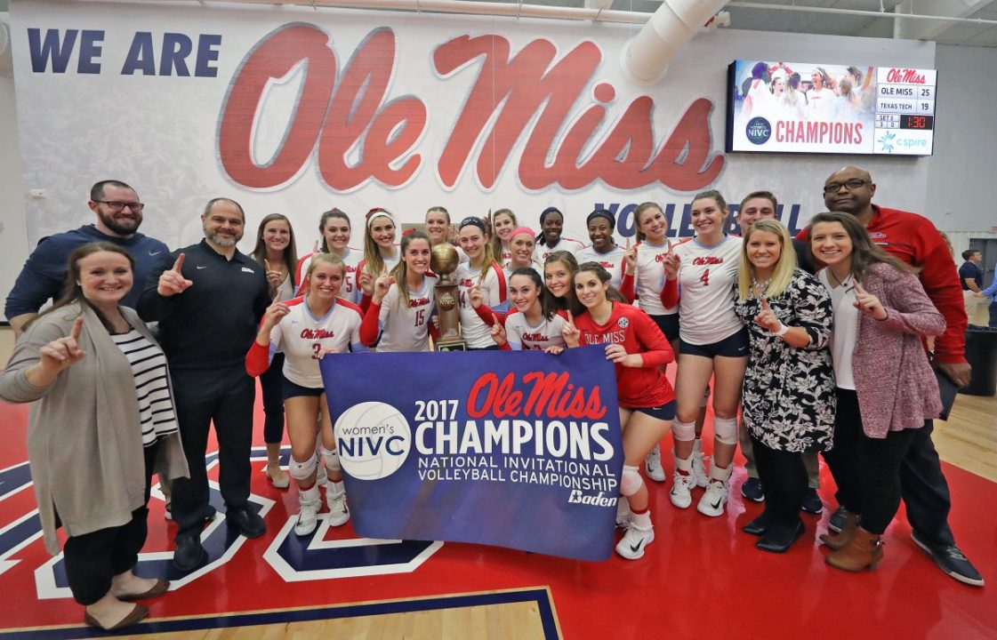 Ole Miss Claims NIVC Title Behind Another Strong Emily Stroup Performance