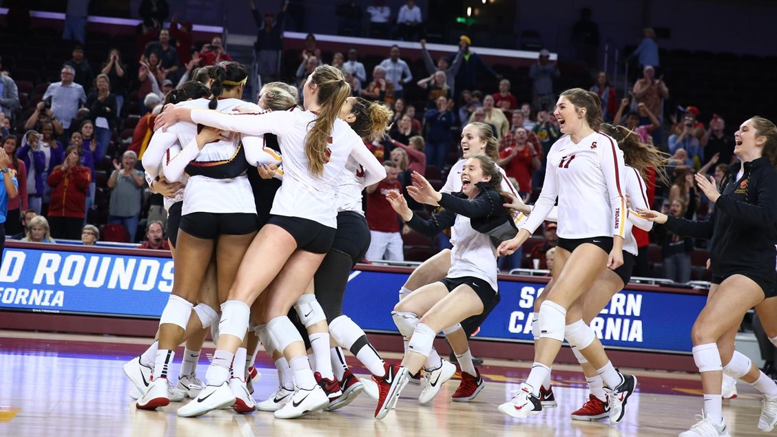 USC Tops San Diego in Five Set Decision