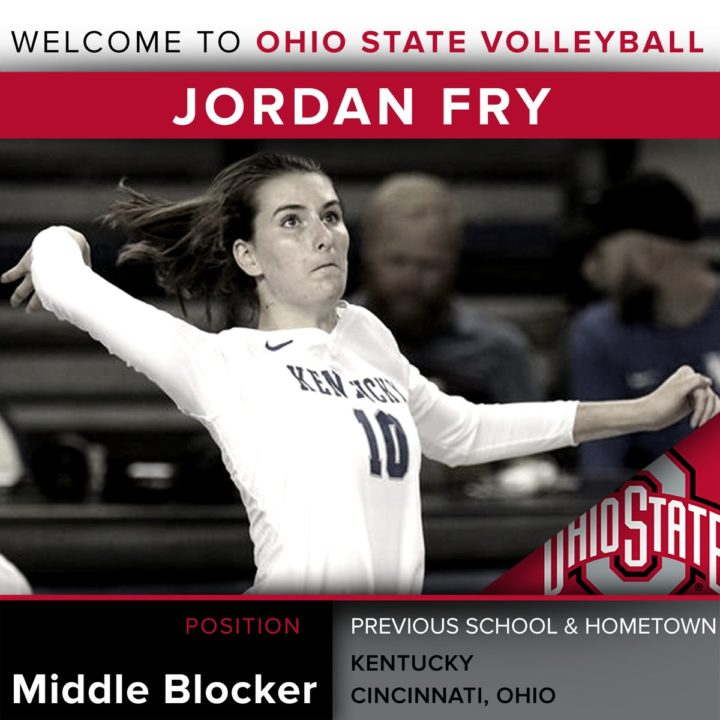 Middle Blocker Jordan Fry Transfers from Kentucky to Ohio State
