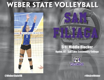 Weber State Adds Junior College Middle Blocker Samantha Filiaga